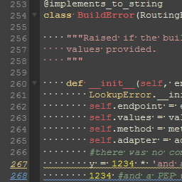Cropped screenshot of Dark Flash Builder